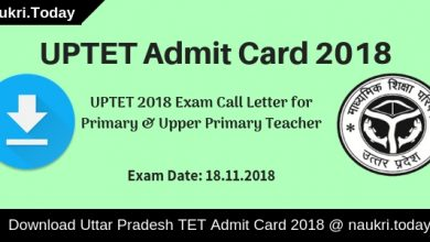 UPTET Admit Card