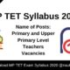 MP TET Syllabus 2020