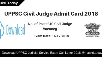 UPPSC Civil Judge Admit Card