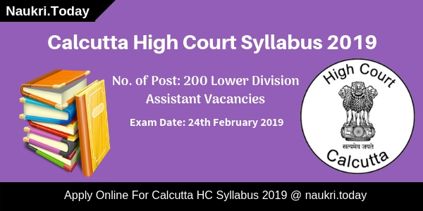 Calcutta High Court Syllabus
