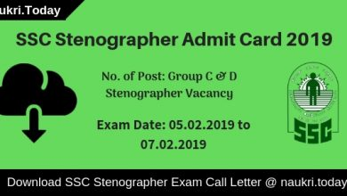 SSC Stenographer Admit Card (1)