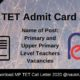 MP TET Admit Card 2020