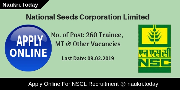 NSCL Recruitment