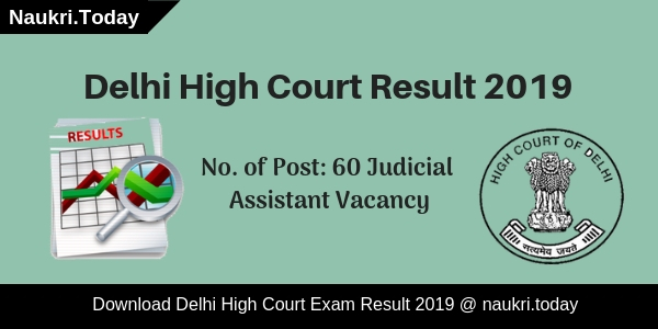 Delhi High Court Result