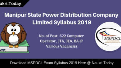MSPDCL Syllabus