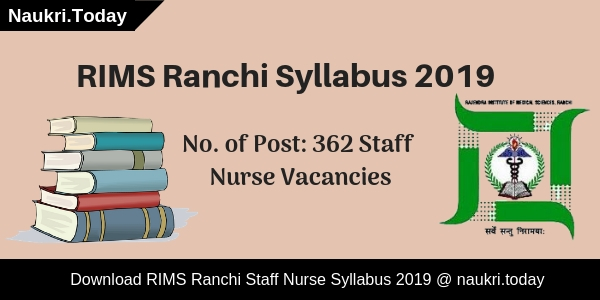 RIMS Ranchi Syllabus