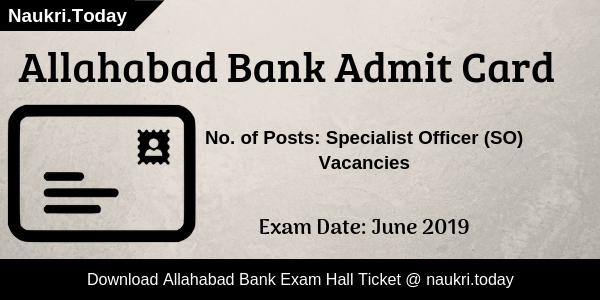 Allahabad Bank Admit Card