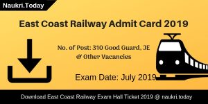 East Coast Railway Admit Card