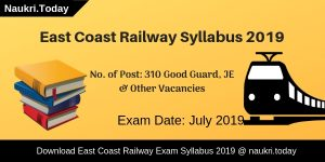 East Coast Railway Syllabus