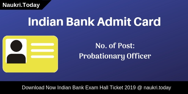 Indian Bank Admit Card