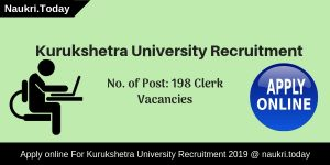 Kurukshetra University Recruitment