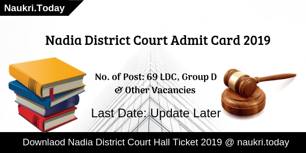 Nadia District Court Admit Card