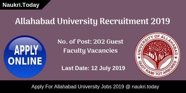 Allahabad University Recruitment