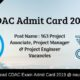 CDAC Admit Card