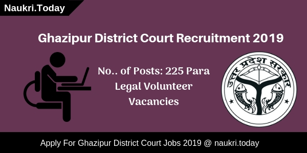 Ghazipur District Court Recruitment