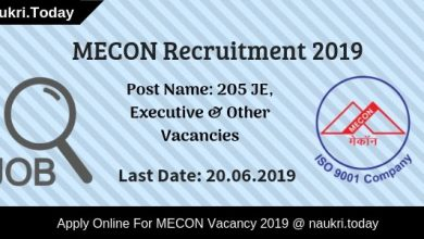 MECON Recruitment