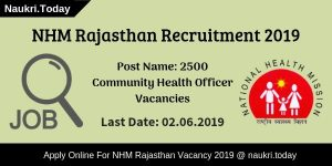 NhM Rajasthan Recruitment