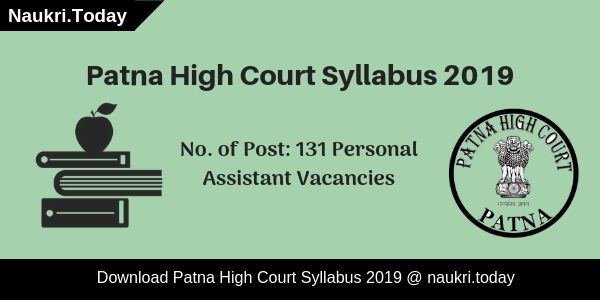Patna High Court Syllabus