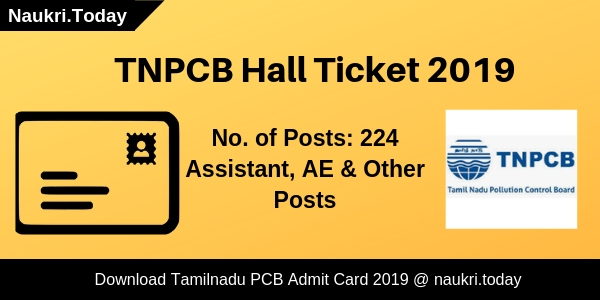TNPCB Hall Ticket