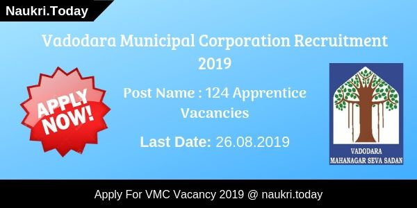 VMC Recruitment 2019 Apply Online For 124 Apprentice Vacancies
