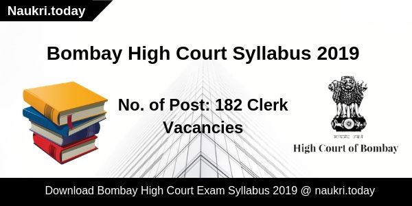 Bombay High Court Syllabus