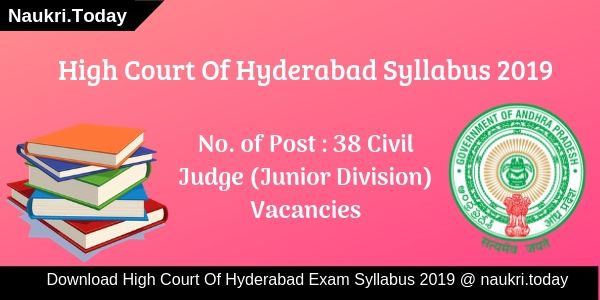 High Court Of Hyderabad Syllabus