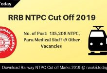 RRB NTPC Cut Off