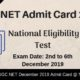 UGC NET Admit Card
