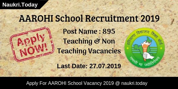 AAROHI School Recruitment