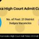 Karnataka High Court Admit Card