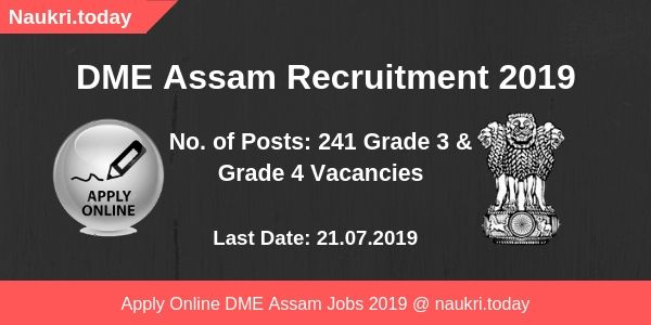 DME Assam Recruitment
