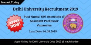 Delhi University Recruitment