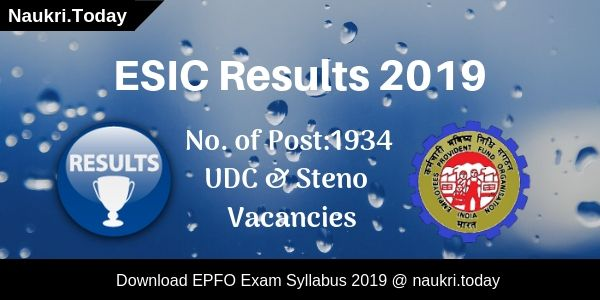 ESIC Results