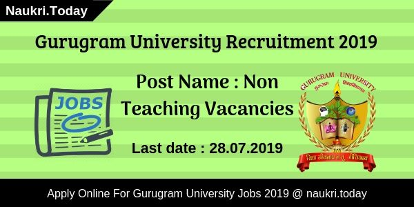 Gurugram University Recruitment