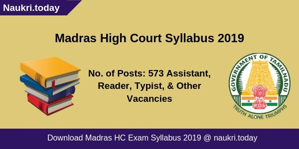 Madras HIgh Court Syllabus