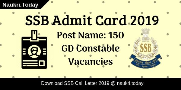 SSB Admit Card