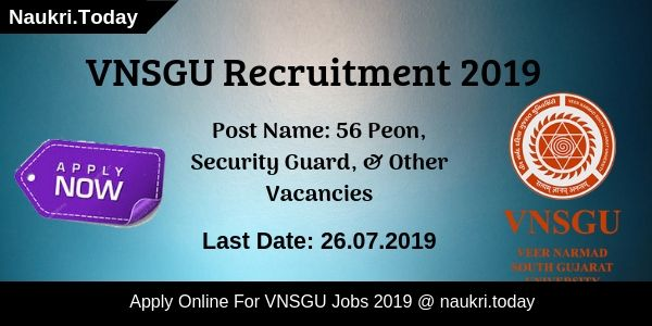 VNSGU Recruitment