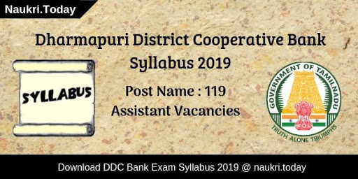 Dharmapuri District Cooperative Bank Syllabus 2019
