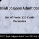 JDCC Bank Jalgaon Admit Card