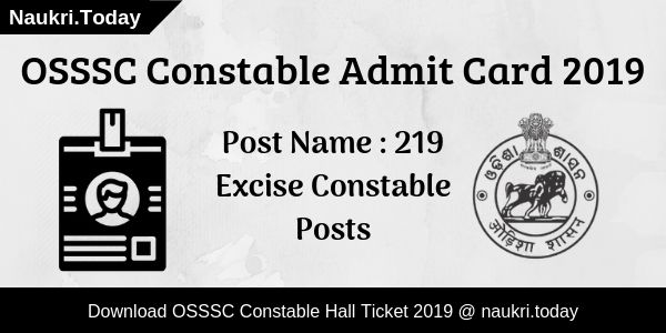 OSSSC Constable Admit Card