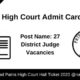 Patna High Court Admit Card 2020