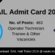 SAIL Admit Card