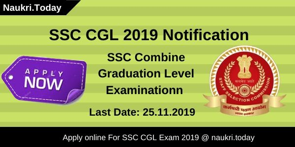 SSC CGL 2019 notification