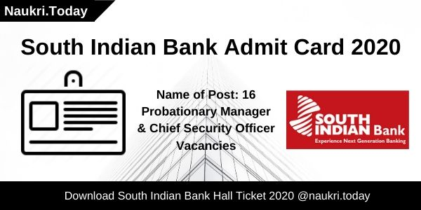 South Indian Bank Admit Card 2020 (1)