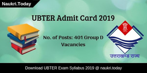 UBTER Admit card 2019