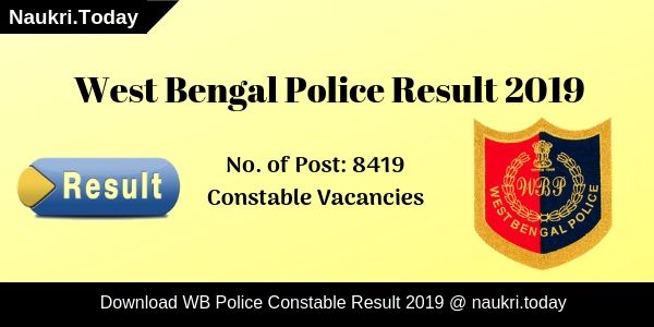 WB Police Result