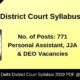 Delhi District Court Syllabus