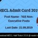 MECL Admit Card