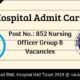 RML Hospital Admit Card