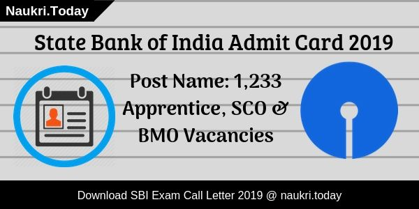 SBI Admit Card